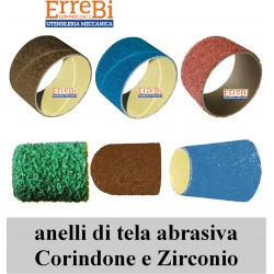 RINGS OF ABRASIVE CANVAS IN CORINDONE AND ZIRCONIO