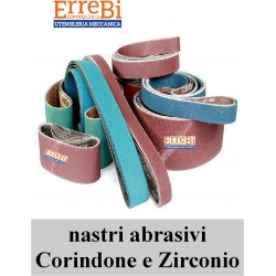 abrasive belts in CORINDONE and ZIRCONIO