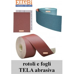 abrasive cloth in rolls and sheets