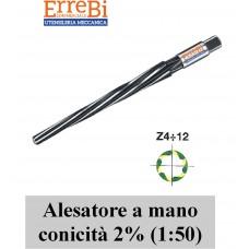 alesatore a MANO conico 2% (1:50) per spine coniche