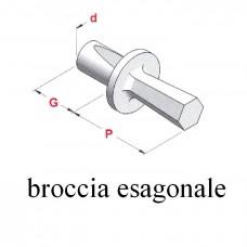 BROCCIA ESAGONALE attacco Ø 8