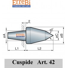 cuspide intercambiabile per contropunte modello 42