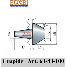 cuspide intercambiabile per contropunte modello 60-80-100