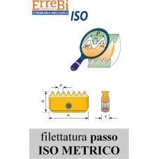 inserti per frese a filettare PASSO METRICO 60°
