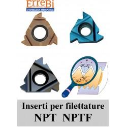inserti per filettare NPT NPTF