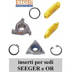 inserts for SEEGER ring seats and OR grooves