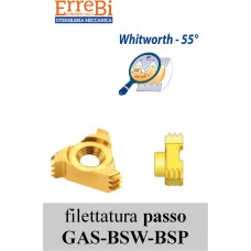 Inserti per filettature interne 55° BSW  BSF  BSP per frese CMT