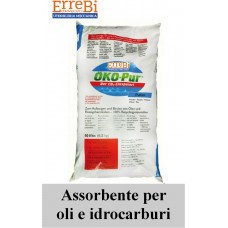 OKO-PUR absorbent binder in powder and granules at total saturation