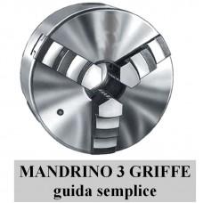 mandrino manuale 3+3 griffe GUIDA SEMPLICE tipo economico