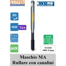 Maschio a macchina per ACCIAIO a RULLARE con canalini riv TiCN