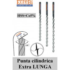 punte elicoidali HSS+Co5% FORI PROFONDI serie EXTRA LUNGA DIN 1870/1, DIN1870/2, DIN1870/3