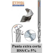 punte elicoidali HSSCo serie estracorta