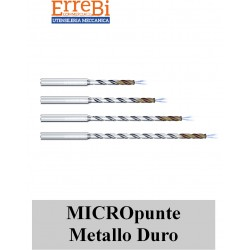 micropunte in metallo duro