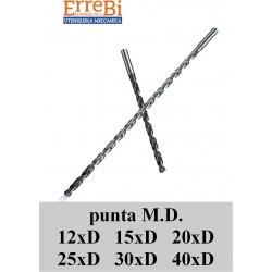 punte in metallo duro rivestite 12xd 15xD 20xD 25xD 30xD 40xD