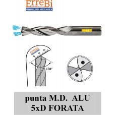punta M.D. 5xD FORATA LAPPATA specifica per ALLUMINIO