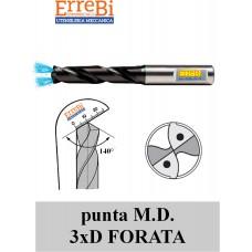 punta M.D. 3xD FORATA gambo RINFORZATO