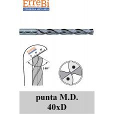 punta M.D. 40xD FORATA GAMBO RINFORZATO