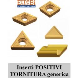 inserti POSITIVI TORNITURA generica