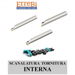 scanalatura e tornitura INTERNA